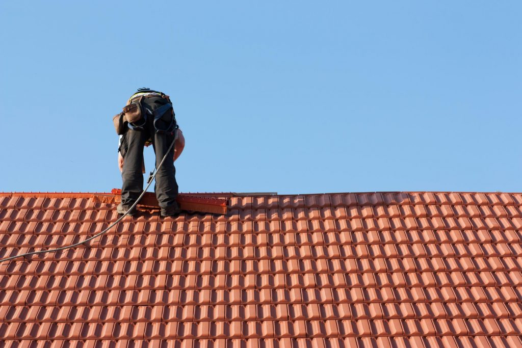 this is an image of lake san carlos roofing contractors at work